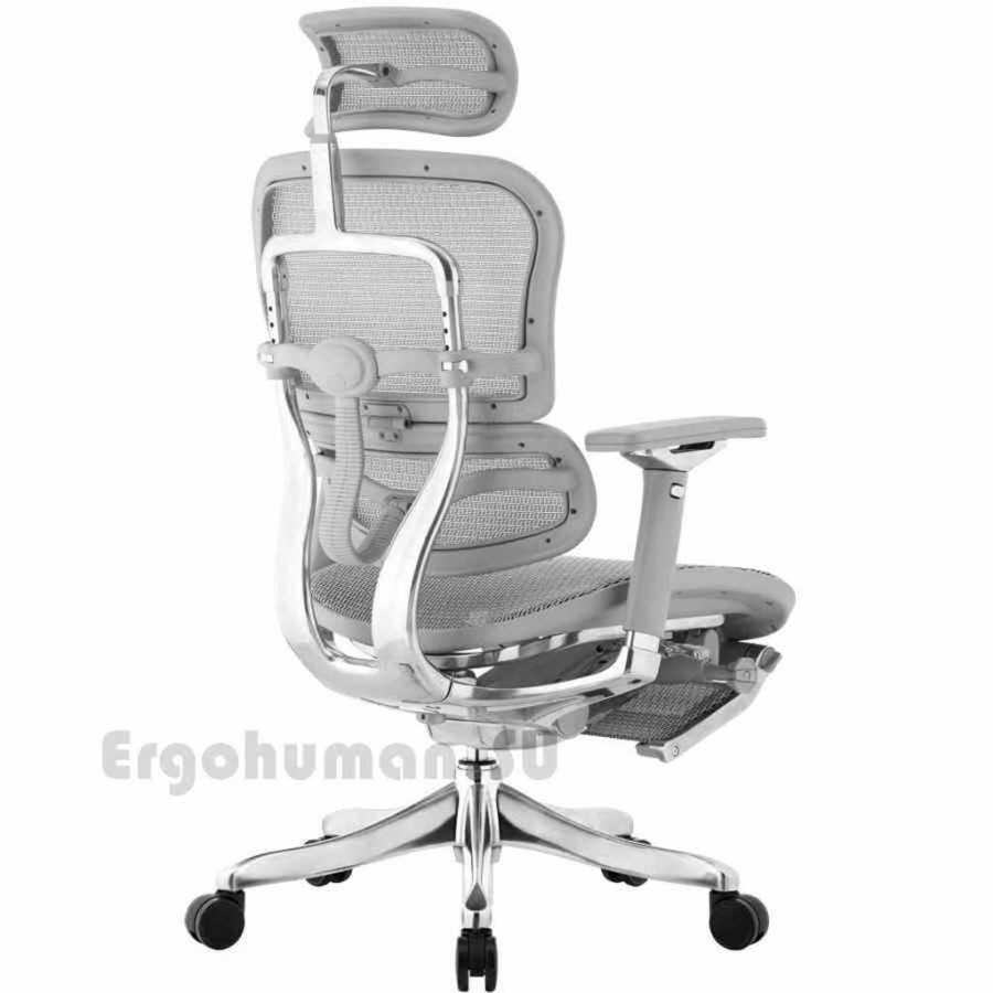 Сетчатое кресло-реклайнер ERGOHUMAN Plus Luxury Mesh LegRest