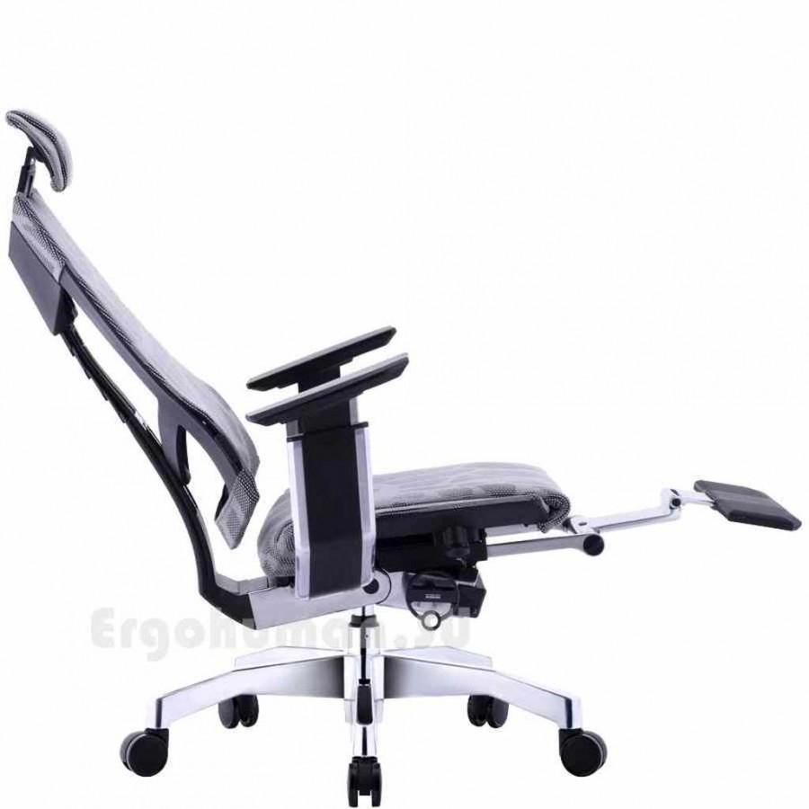 Сетчатое кресло для работы полулежа GENIDIA LegPro Mesh
