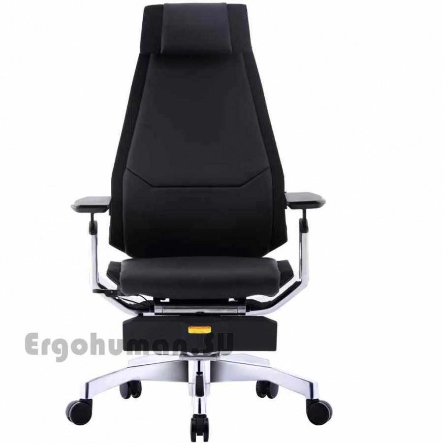 Кожаное кресло-реклайнер GENIDIA LegPro Lux