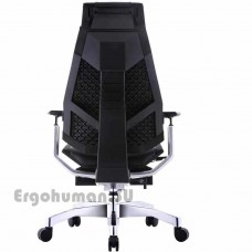 GENIDIA LegPro Lux кожаное кресло-реклайнер с подставкой для ног