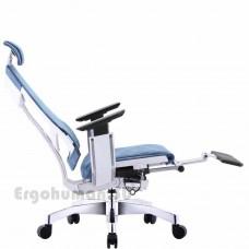 GENIDIA LegPro White сетчатое кресло-реклайнер с подставкой для ног
