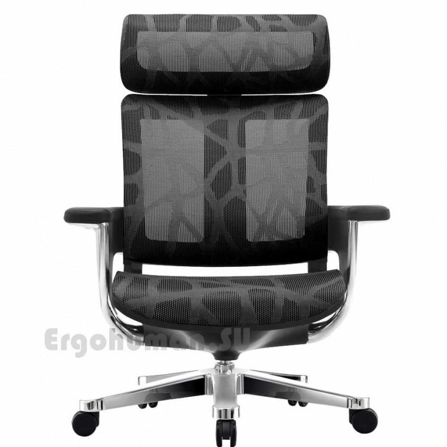 Сетчатое кресло реклайнер NUVEM Executive Mesh Chrome с хромированными основаниями