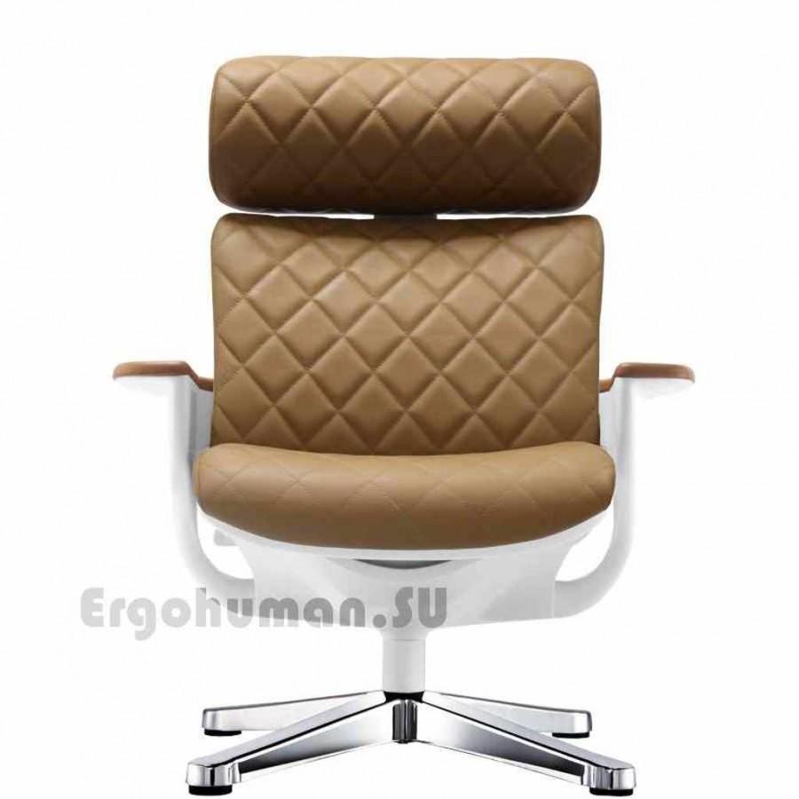 Кожаное кресло реклайнер NUVEM Lounge Lux Chrome
