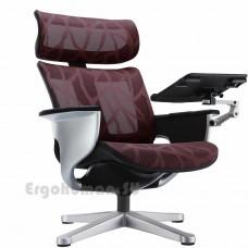 NUVEM Lounge Mesh Silver сетчатое кресло реклайнер