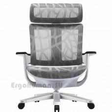 NUVEM Executive Mesh Silver сетчатое кресло для кабинета