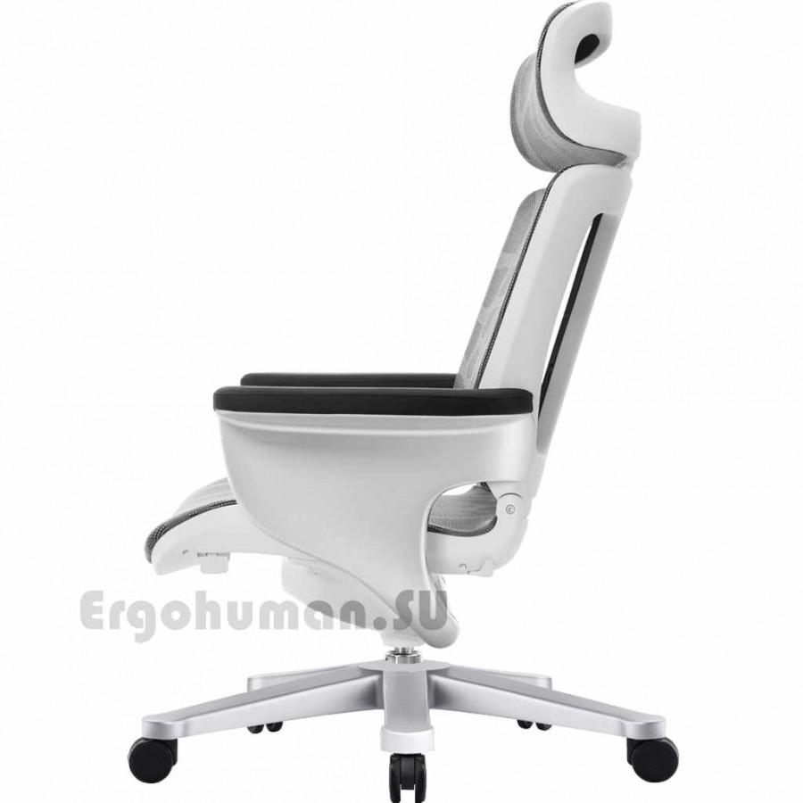 Сетчатое кресло NUVEM Executive Mesh Silver, матовые основания