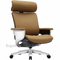 NUVEM Executive Lux Silver кожаное кресло руководителя