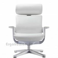 NUVEM Lounge Lux Silver кожаное кресло реклайнер