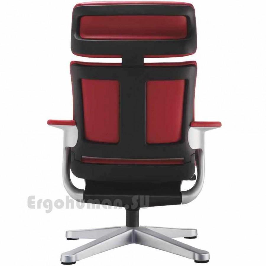 Кожаное кресло реклайнер NUVEM Lounge Lux Silver с  матовым основанием