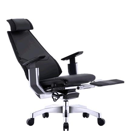 Genidia LegRest Lux кожаное компьютерное кресло