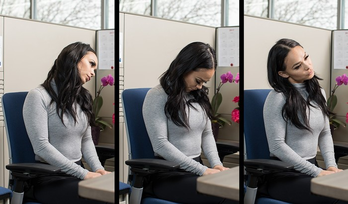 Разминка для шеи и плеч за компьютером