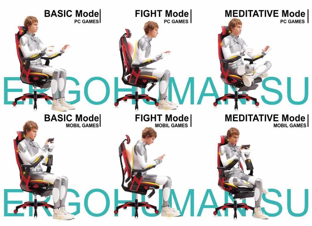 Функции и настройка эргономичного геймерского кресла