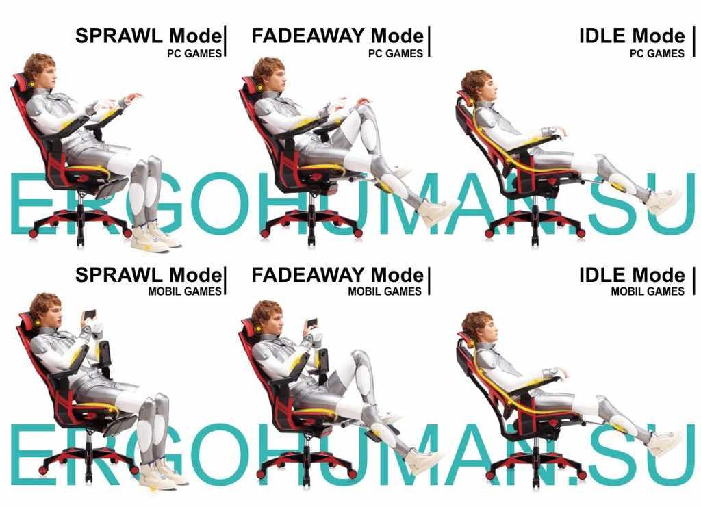 Функции и настройка ортопедического геймерского кресла