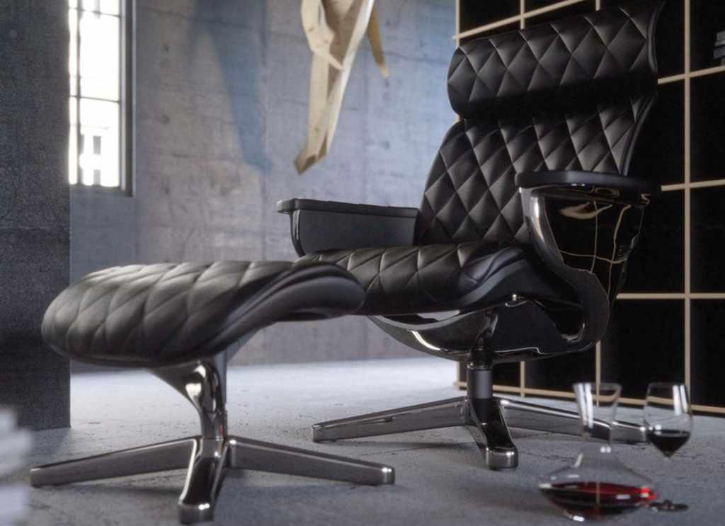Кожаное кресло реклайнер NUVEM