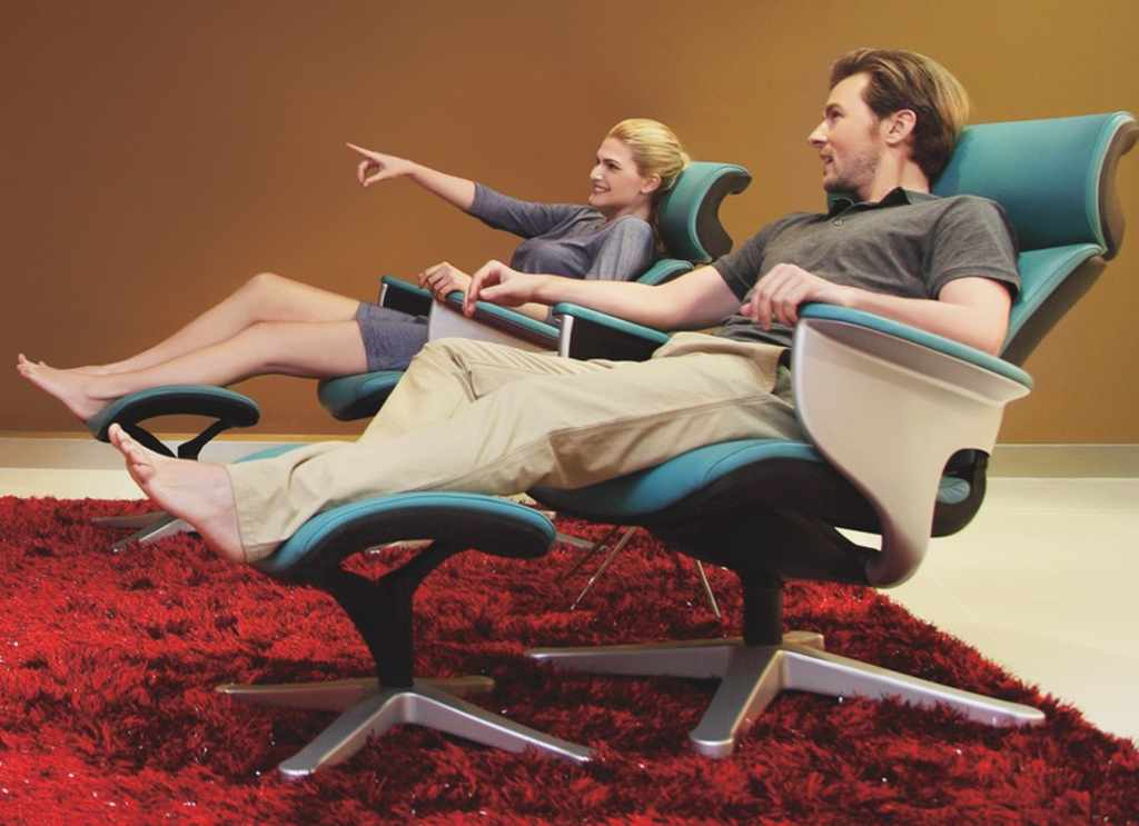 Кожаное кресло реклайнер NUVEM для домашнего кинотеатра