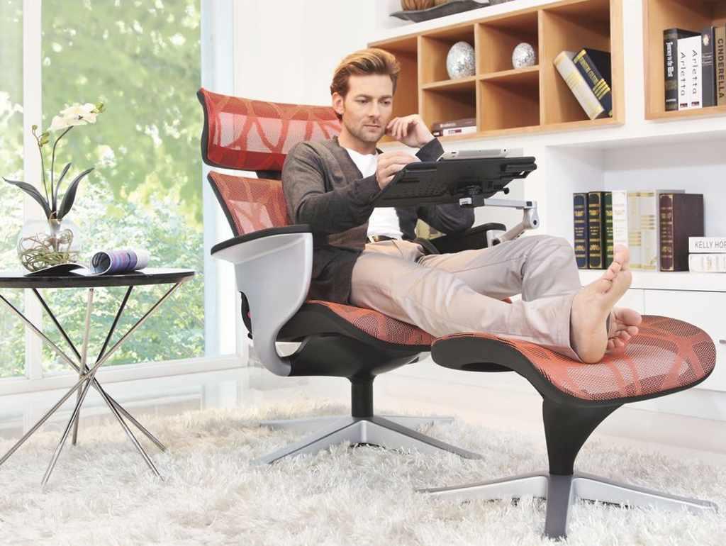 Сетчатое кресло реклайнер для дома