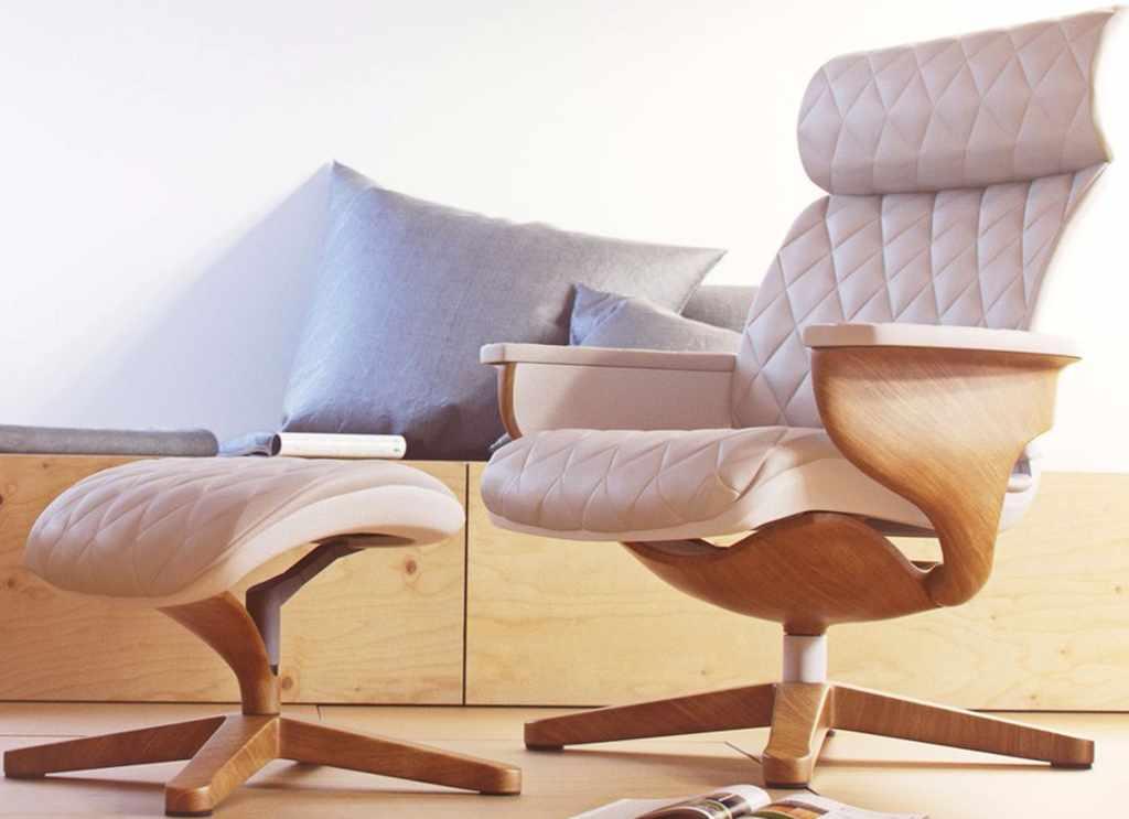 Кожаное кресло реклайнер для дома